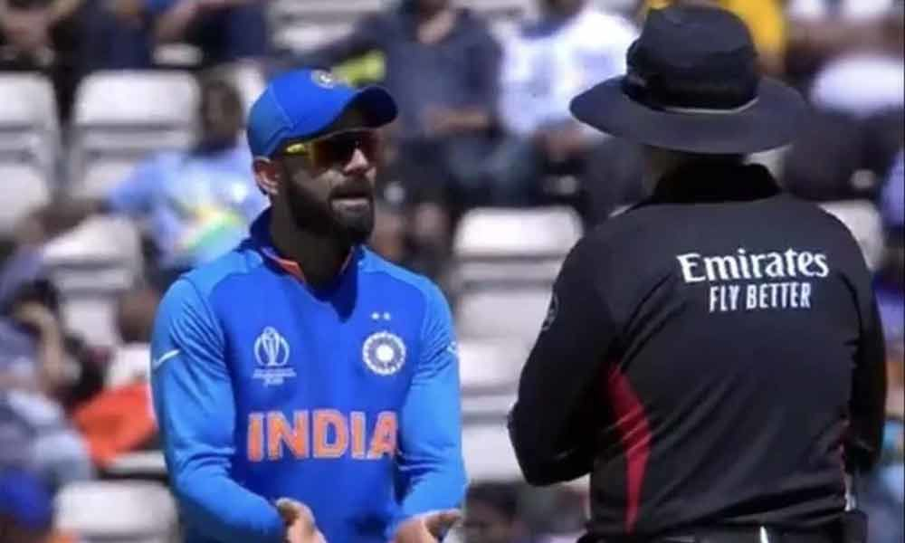 Kohli argues with umpire over DRS during Afghanistan win