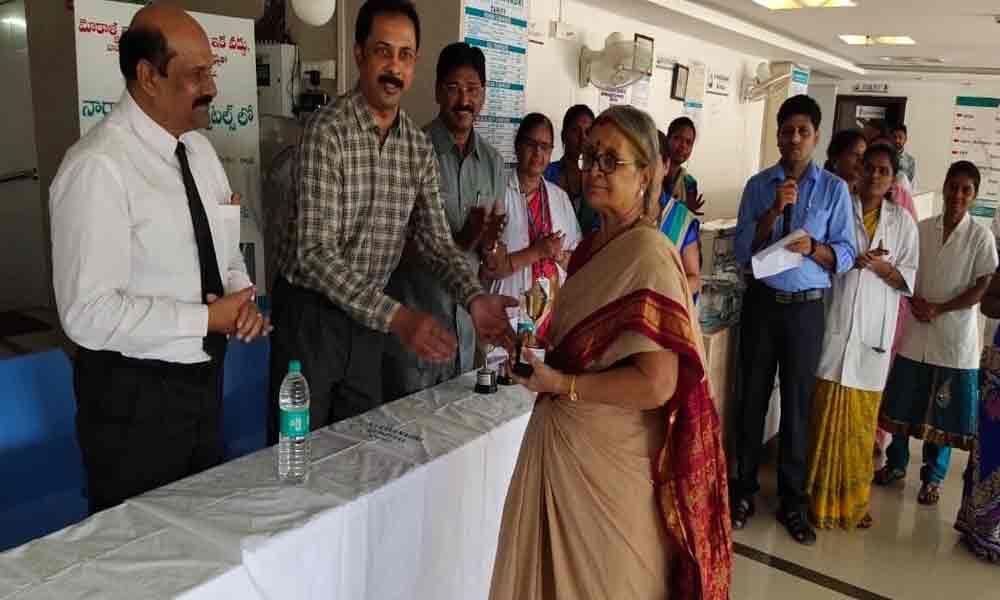 Sports meet for patients held at Narayanadri Hospitals