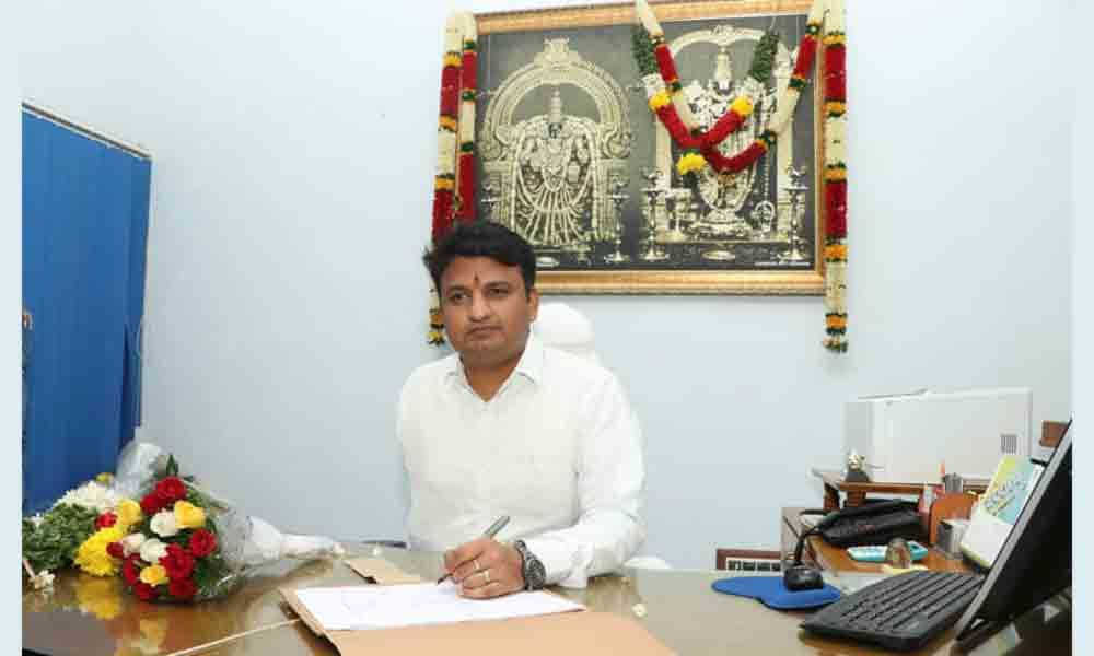 PS Girisha takes charge as Municipal Corporation of Tirupati chief