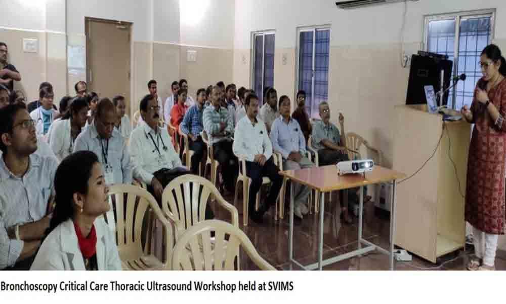 Workshop on bronchoscopy, thoracic ultrasound organised in Tirupati