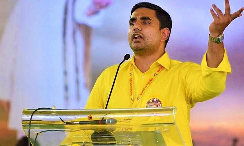 Nara Lokesh alleges YSRCP activist involved in Ongole gang rape case