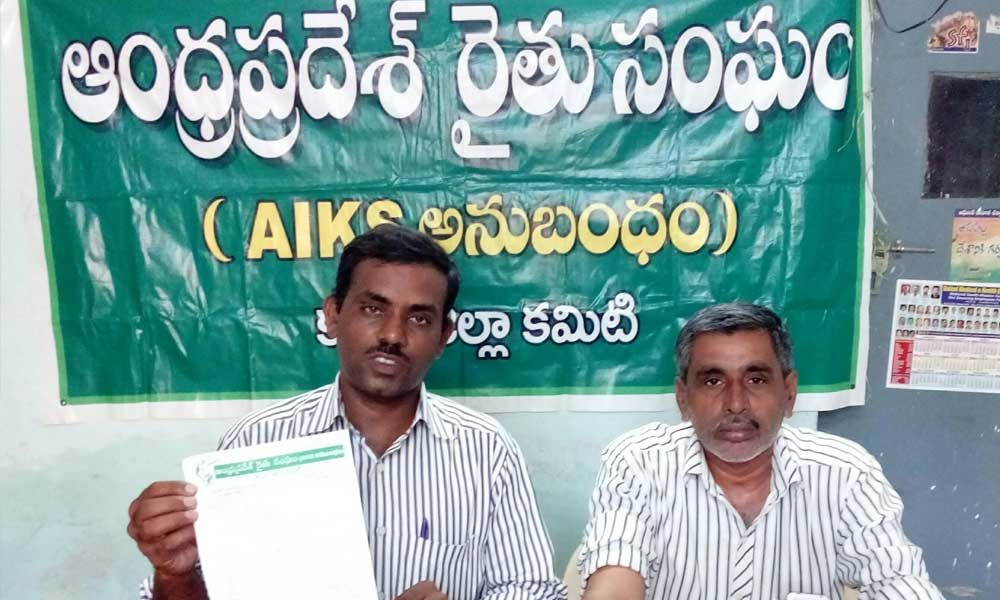 CM to initiate steps for proper supplying of ground nut seed- AP Rythu Sangam district secretary