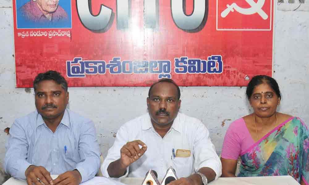 YSRCP forcing officials to replace workers, alleges CITU