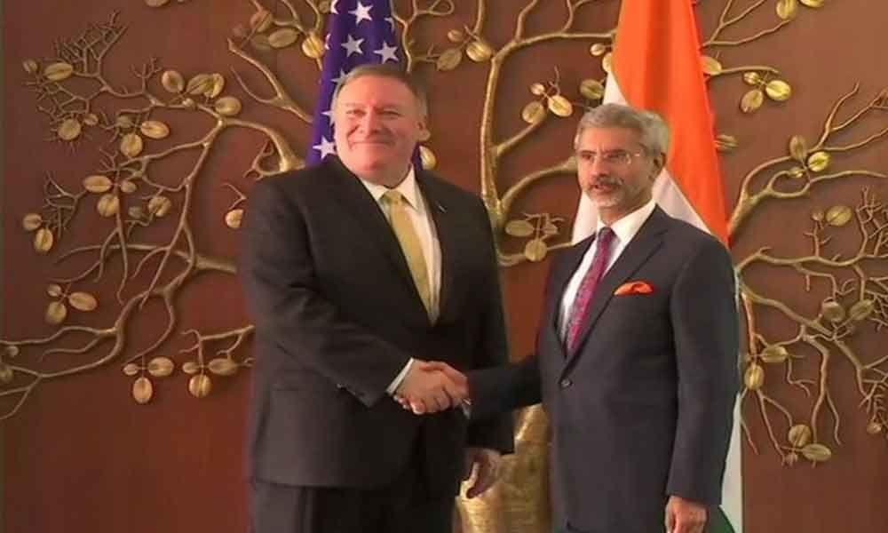 Mike Pompeo meets Jaishankar