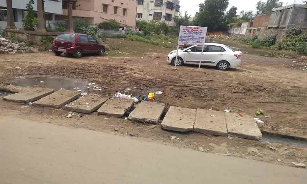 Drainage works left midway; locals angry