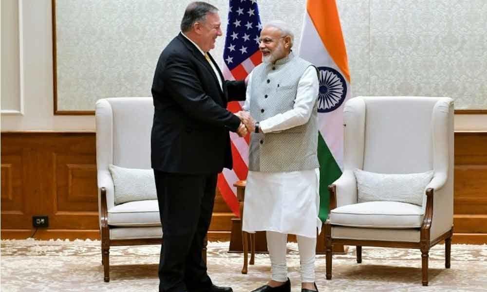 Pompeo preps PM Modi for Trump meet
