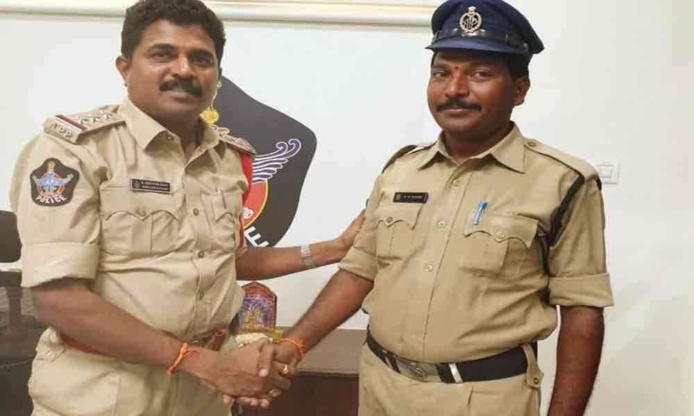 Constable selected for best service award B Raju Babu