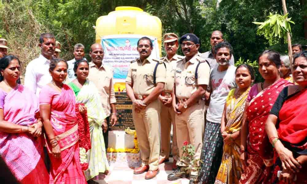 Urban SP opens water tank in Tirupati