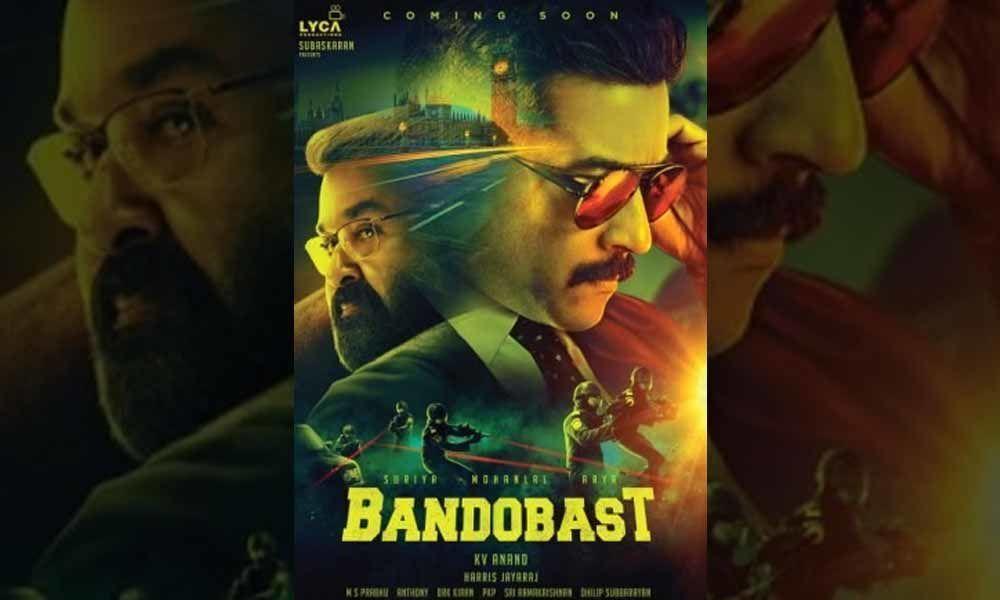SS Rajamouli Unveils Bandobast Poster, Starring Suriya and Mohan Lal