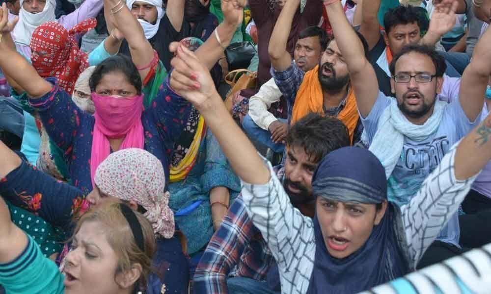Assam TET: Teachers Protest Seeking Regularization