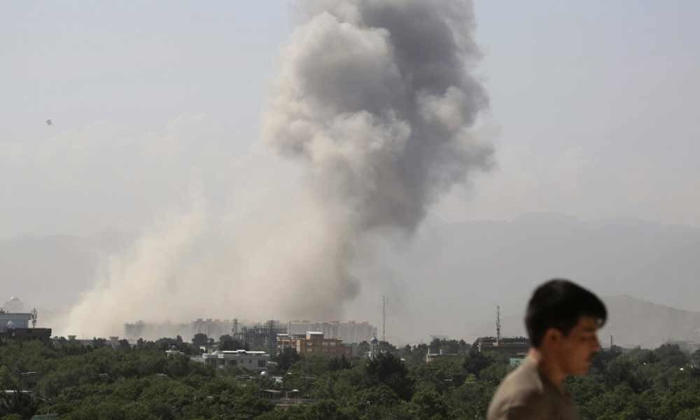 Dozens injured as powerful explosion takes place near US embassy in Kabul