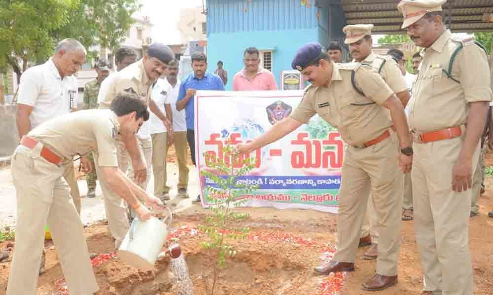 Nellore SP appeals for greenery in police  stations