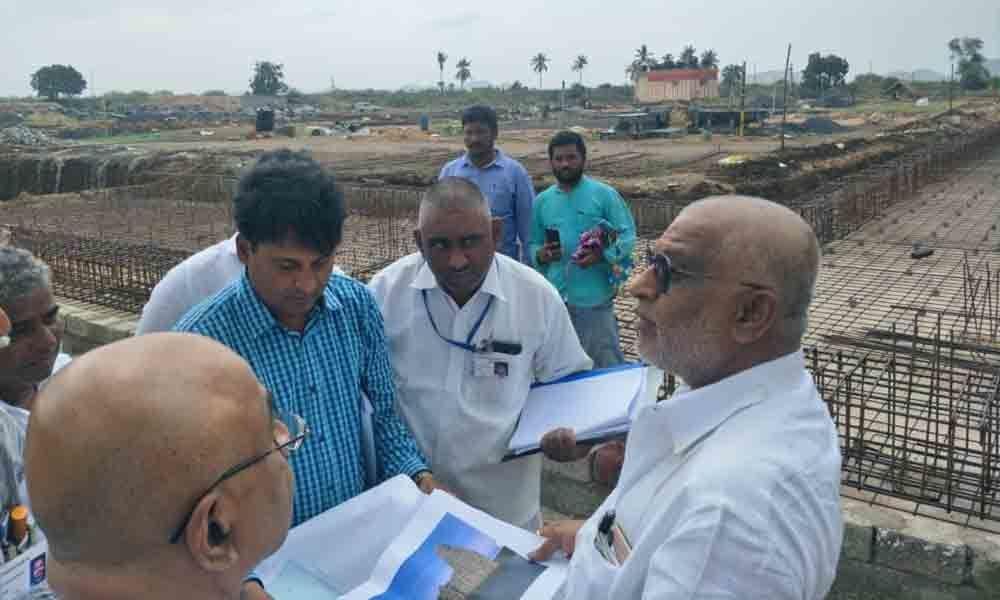 TTD chairman inspects temple works in Tulluru