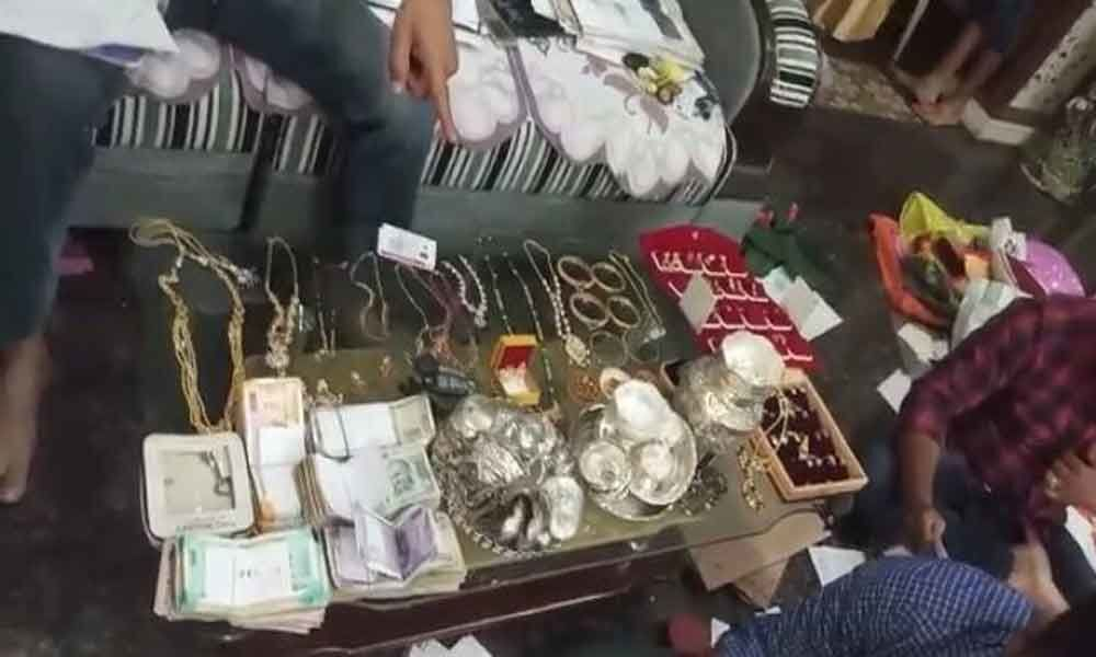 ACB officials raid on A.E house recovered 2.5 crores worth  properties