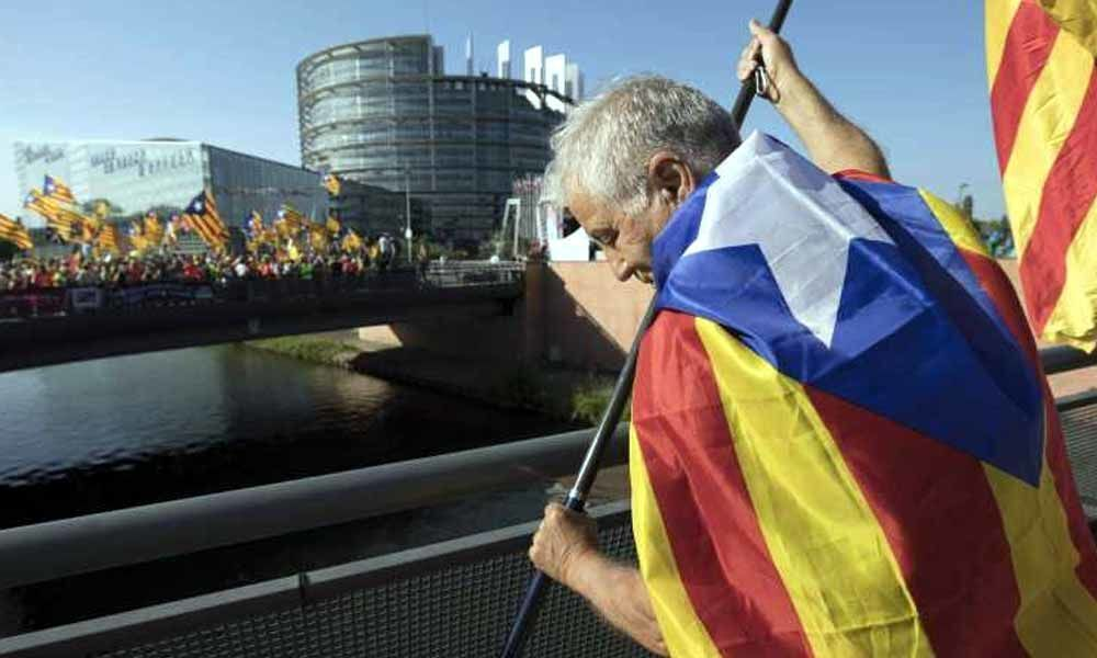 Protests mar the opening of the European Parliament