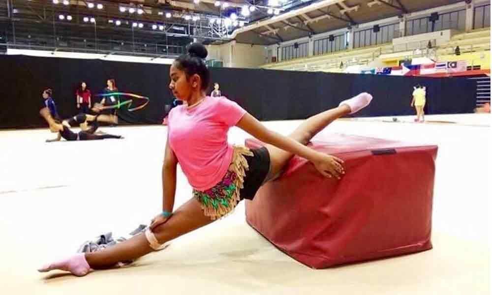 Young champion of gymnastics