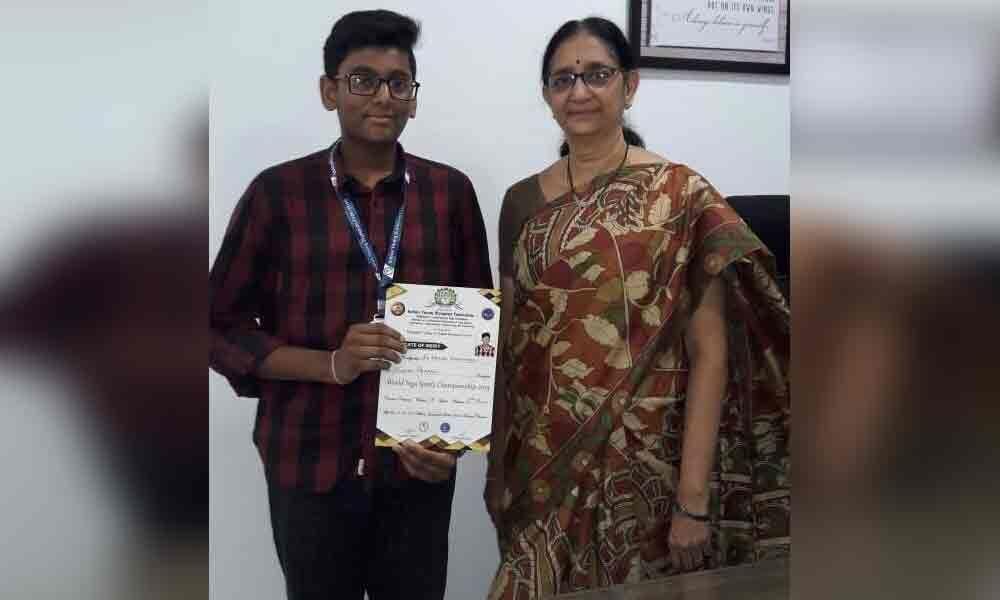 Sarada student wins yoga sports contest