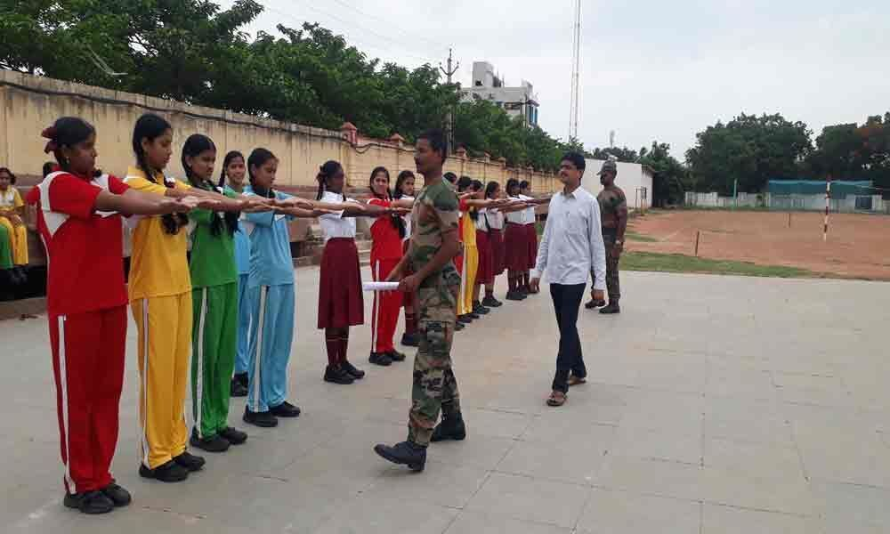 NCC cadet selection conducted at Prakash Synergy School