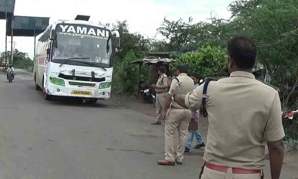 Transport officials seize vehicle for not paying tax in Visakhapatnam