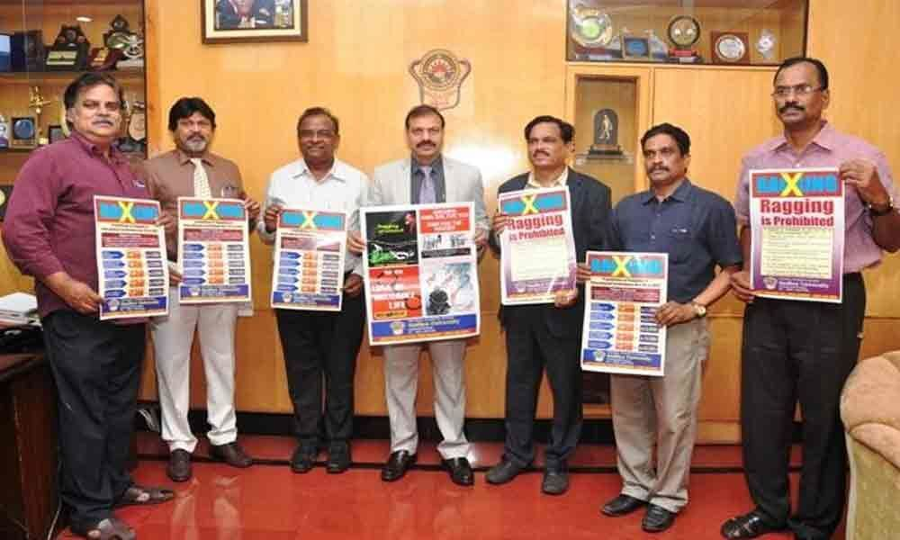 Andhra University Vice-Chancellor releases anti-ragging poster