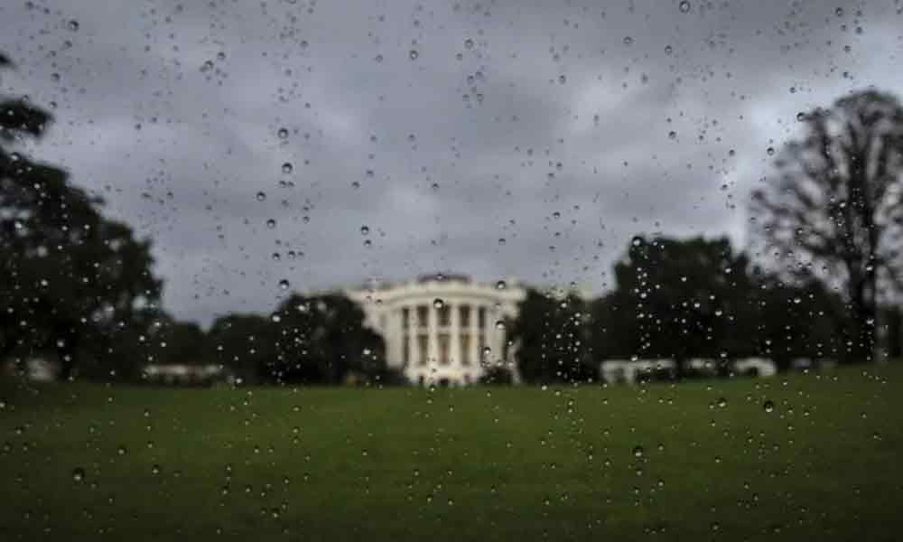 Watch: White House basement offices flooded after heavy rain in Washington