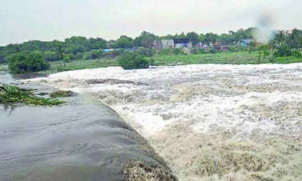 Pattiseema water enters Krishna District