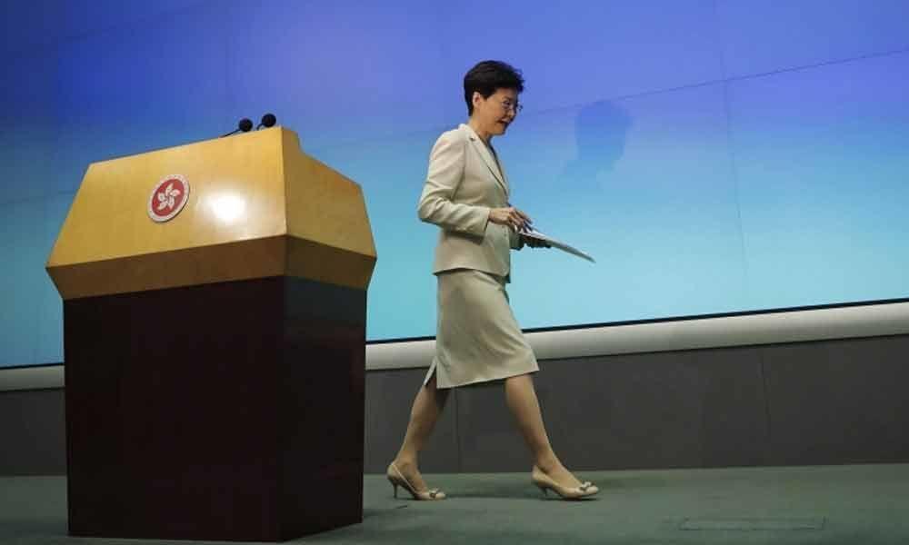 Hong Kong leader Lam says China extradition bill