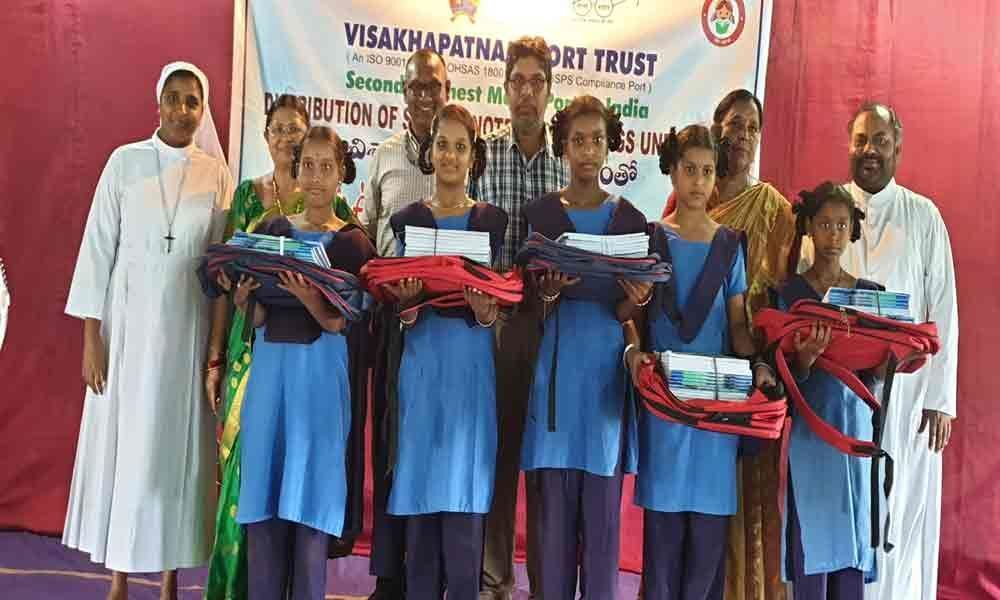 VPT distributes notebooks, bags to school children