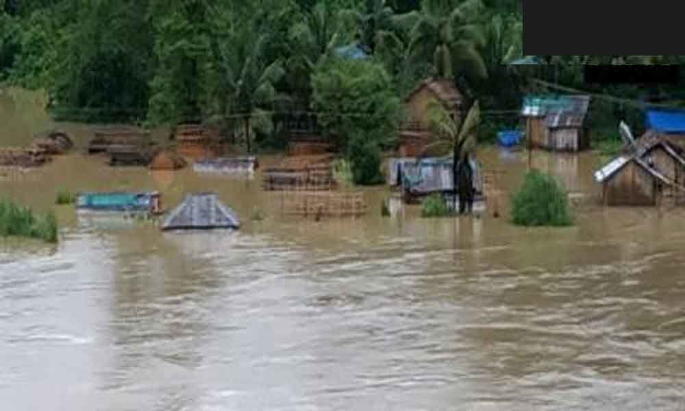 Dozens of homes evacuated amidst flood like situation in Mizorams Tibung