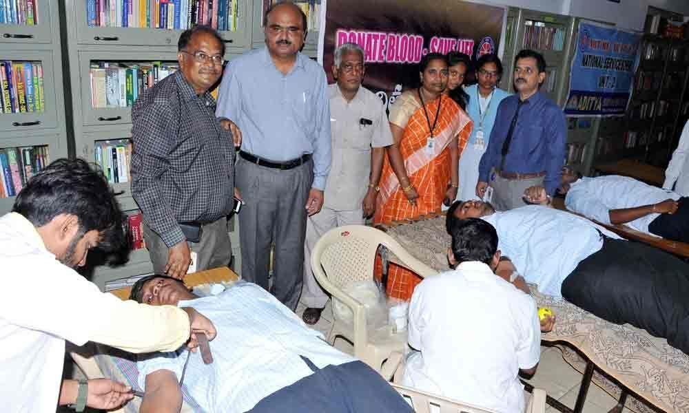 Aditya students donate blood