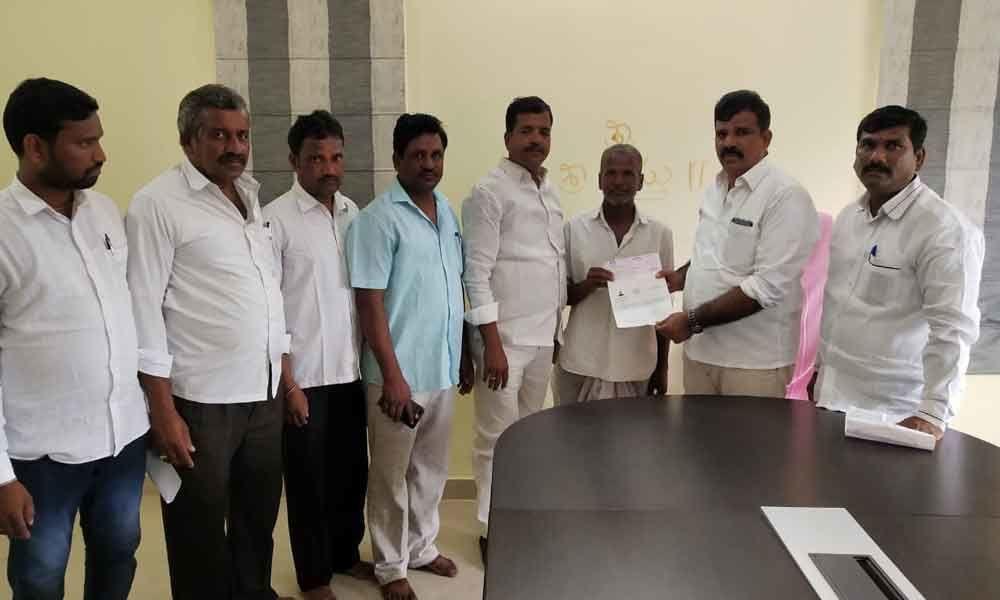 CM Relief Fund cheque presented