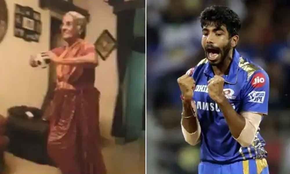 Elder woman mimics Jasprit Bumrahs bowling action, the bowler loves it