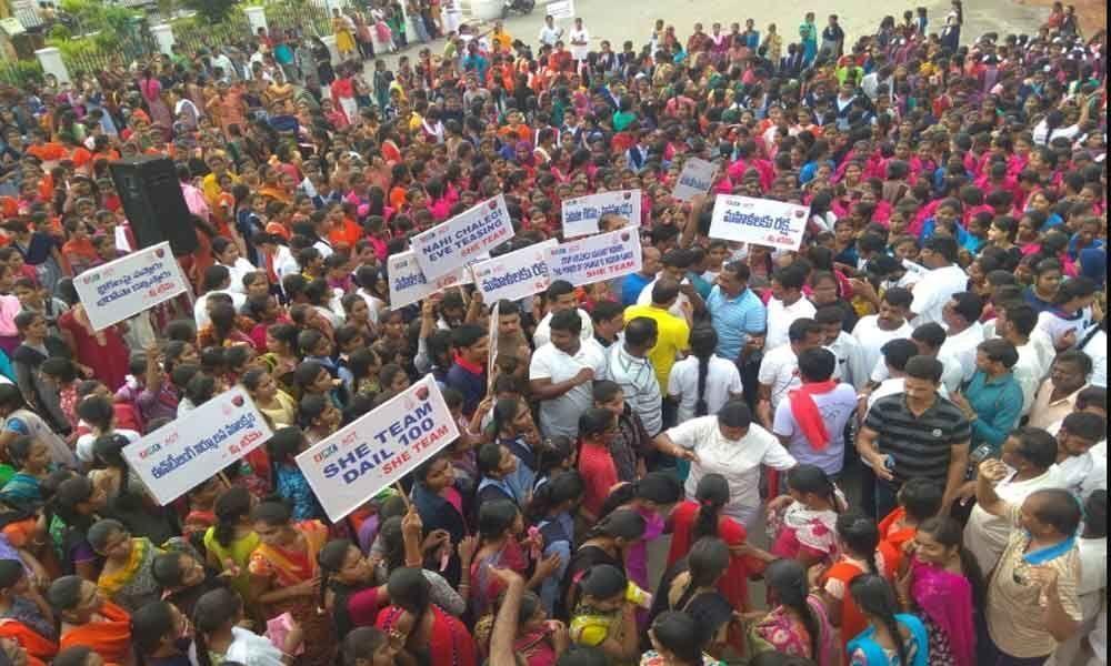2.5 K run held for women safety at Nalgonda