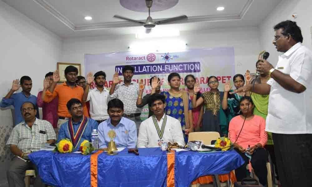 Installation ceremony of Rotaract Club held