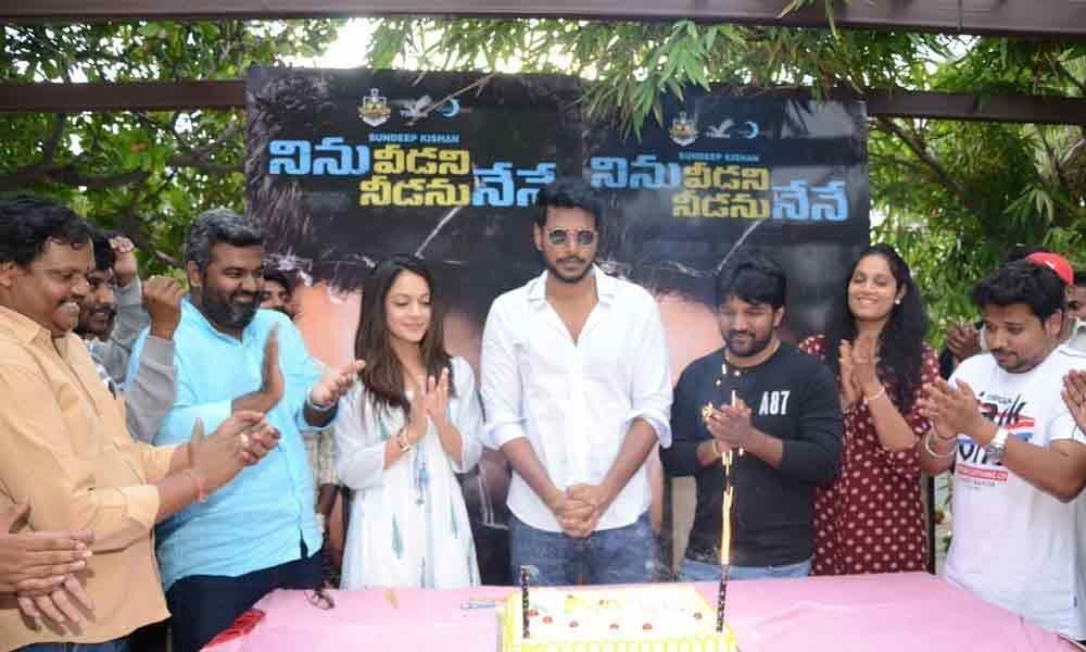 Sundeep Kishan celebrates NVNN Movie success with fans