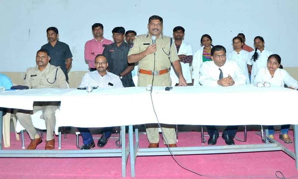 Health camp held for cops families
