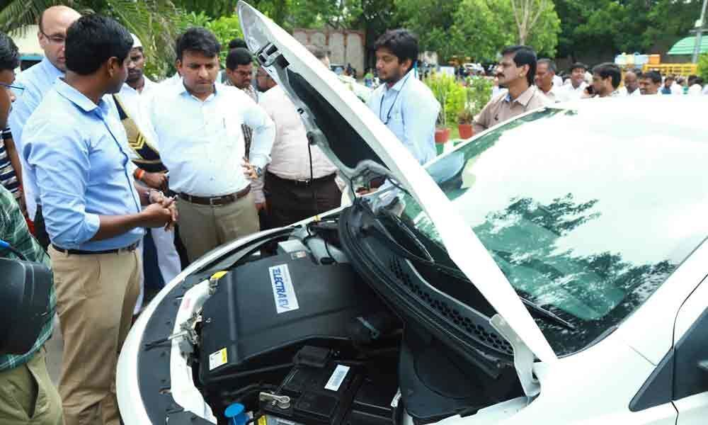 Electric taxi tested on ghat road