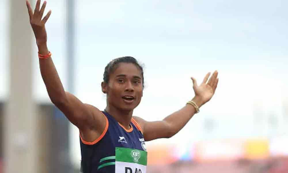 Hima Das returns to 400m run, grabs 5th gold of month