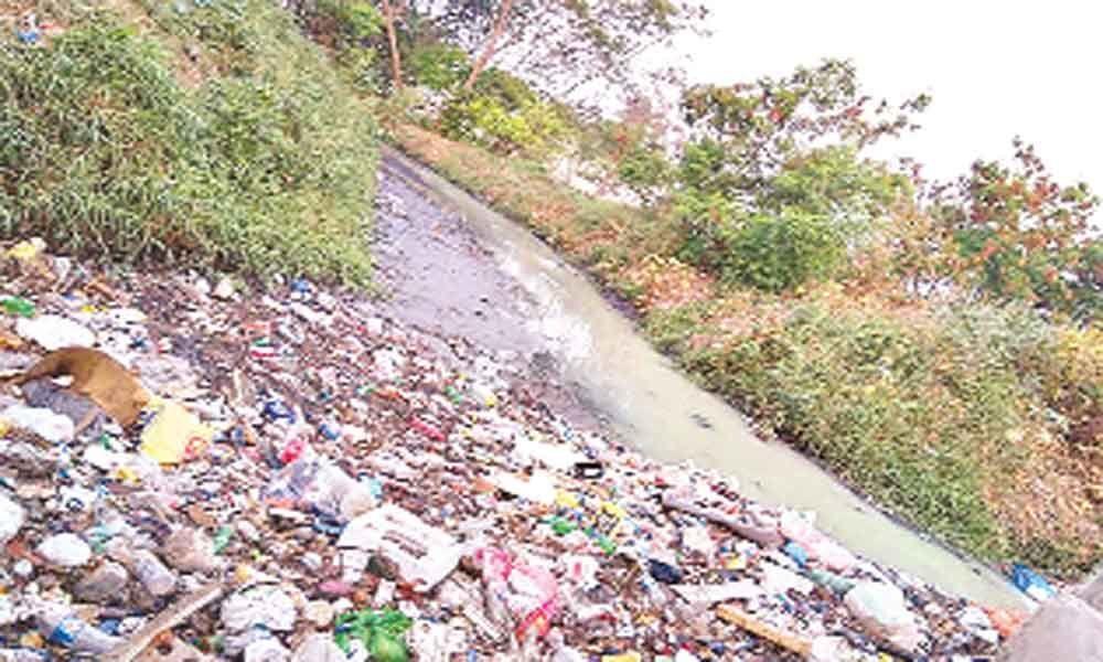 Nagaram Lake turns into open drain