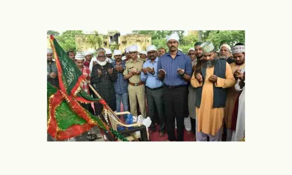 Gyarvi Shareef Jenda festival celebrated in Godavarikhani