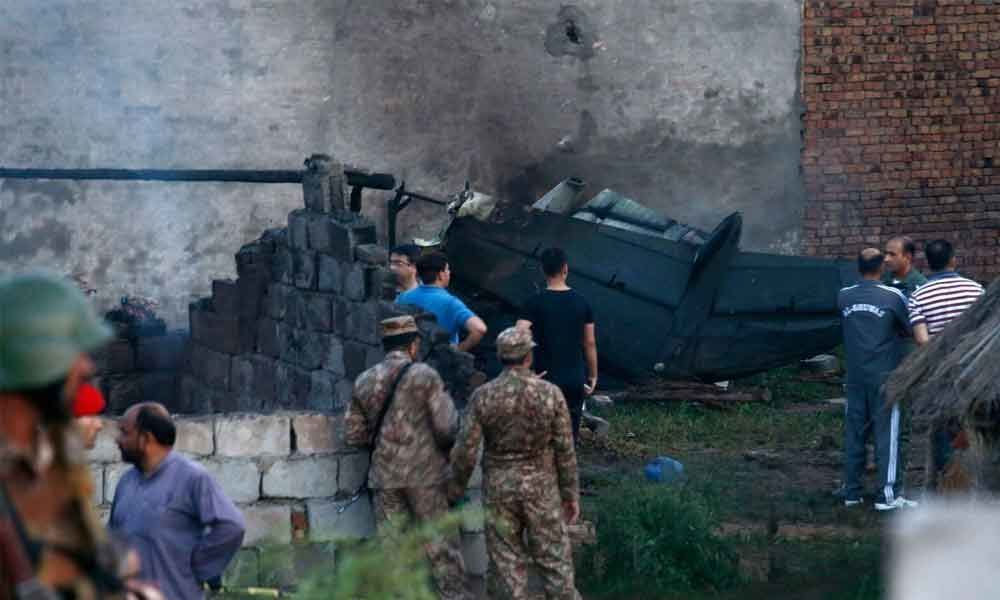 17 dead as Pak military plane crashes in residential area