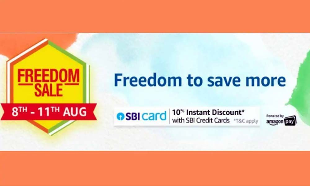 Amazon Freedom Sale: 8th to 11th August