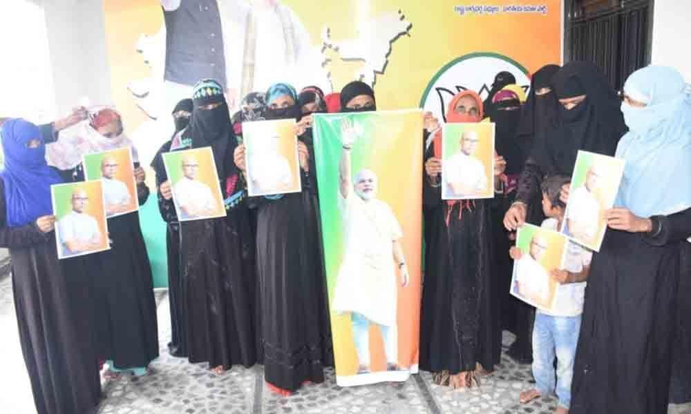 BJP Minority Morcha thanks Modi in Nizamabad