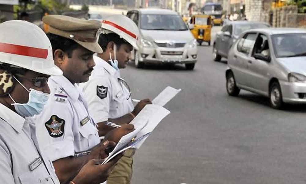 Hyderabad man caught with 57 challans issued for traffic violation