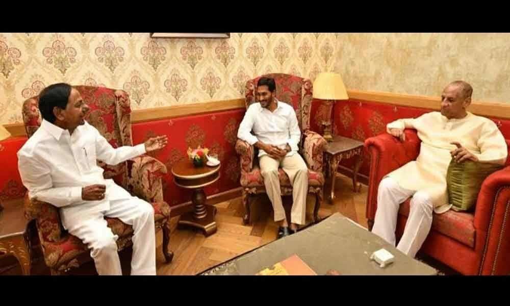 AP CM Jagan meets Governor, KCR