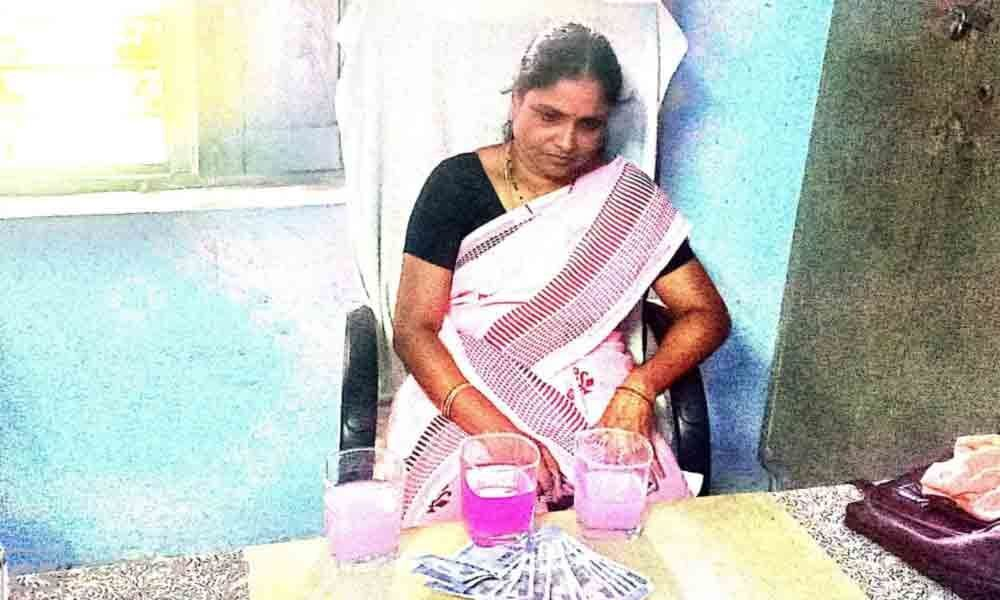 School headmistress caught taking bribe in Peddapalli