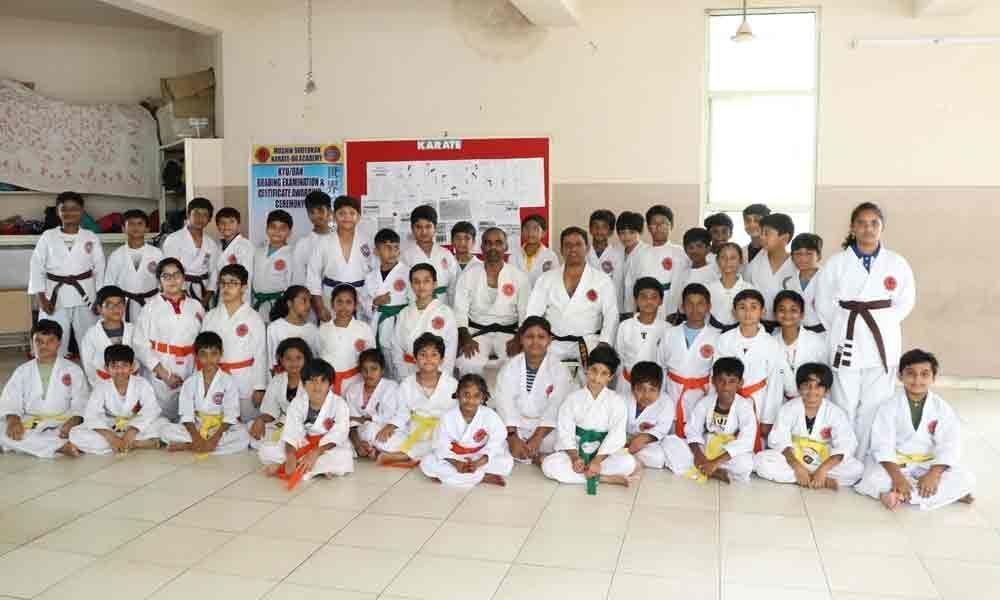 46 DPS students win karate belts in Vijayawada