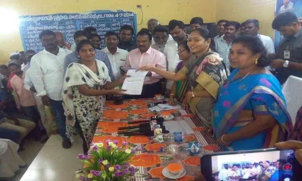 Appointment orders issued to village volunteers:  Mekathoti Sucharita