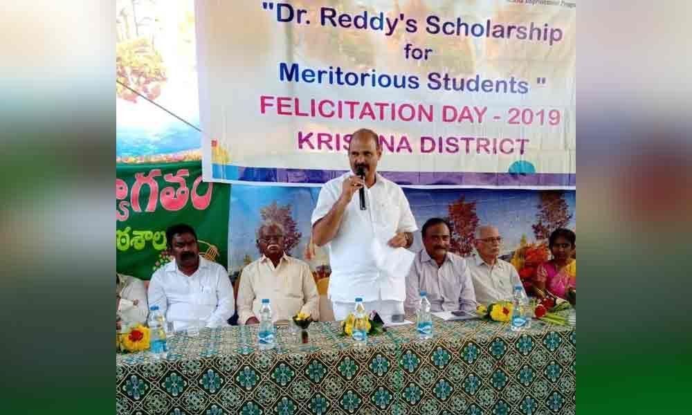 Merit scholarships distributed by MLA Kolusu Parthasarathy