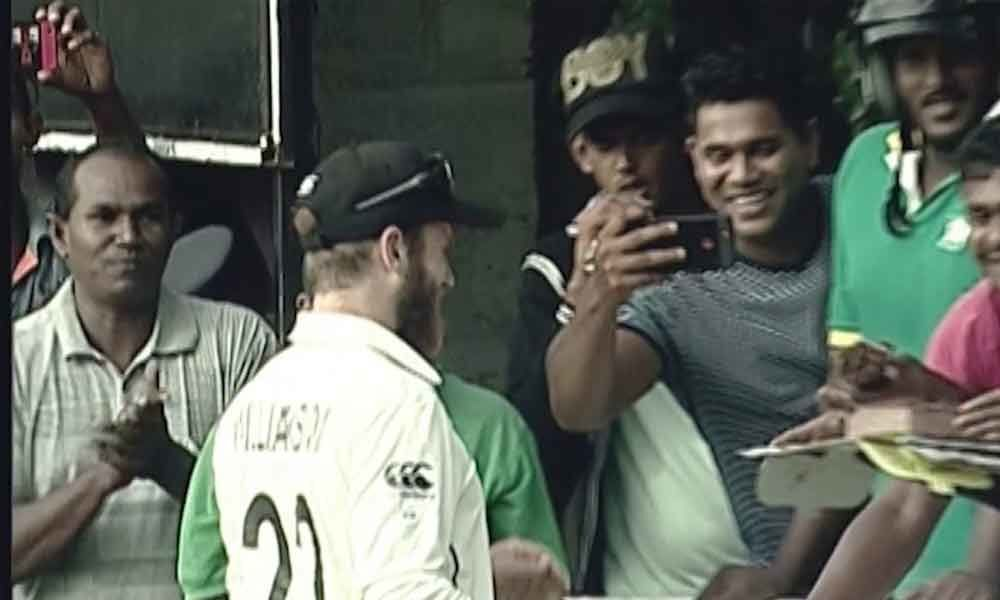 Watch video: Kane Williamson celebrates his birthday with fans on boundary